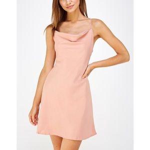 Cotton Candy L.A. Backless Satin Mini Dress